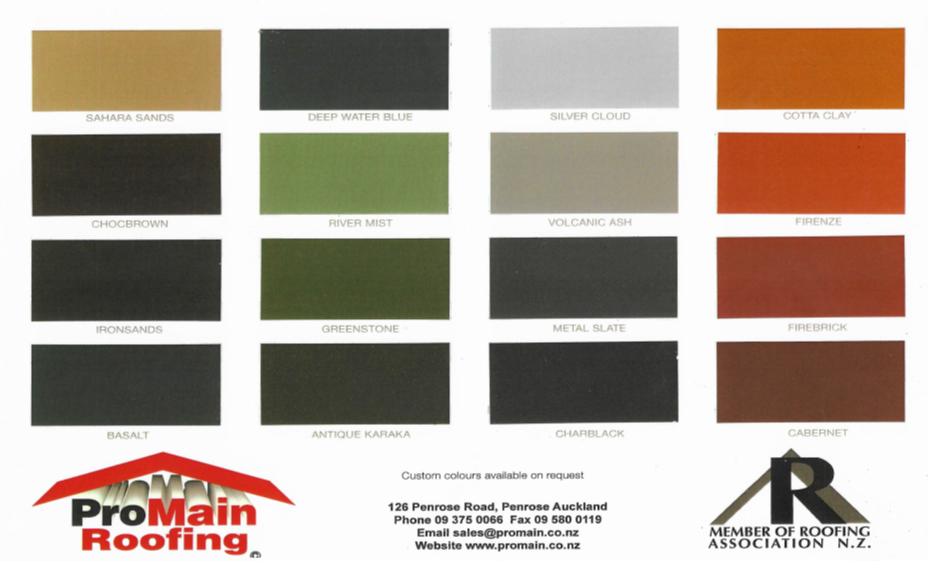 promain colour chart