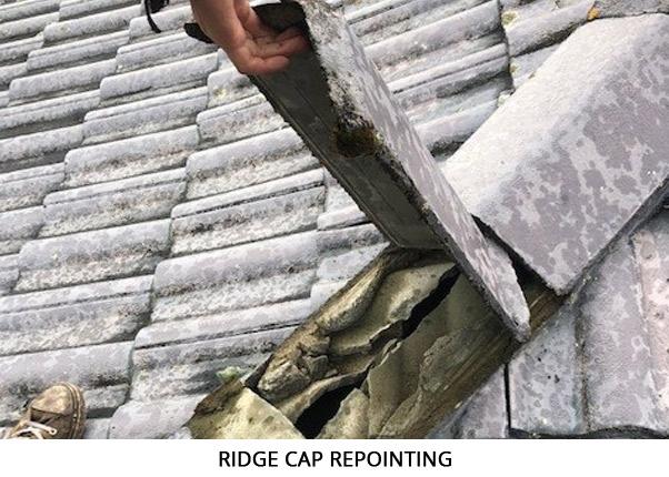 Ridge Cap Repointing